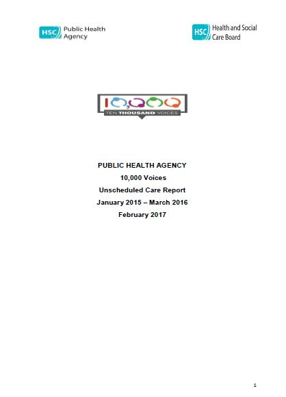 10000 Voices Regional Report Unscheduled care