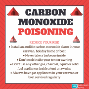 Beware risk of carbon monoxide poisoning this summer