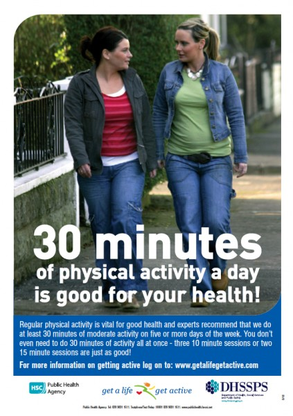 30 minutes of physical activity a day is good for your health