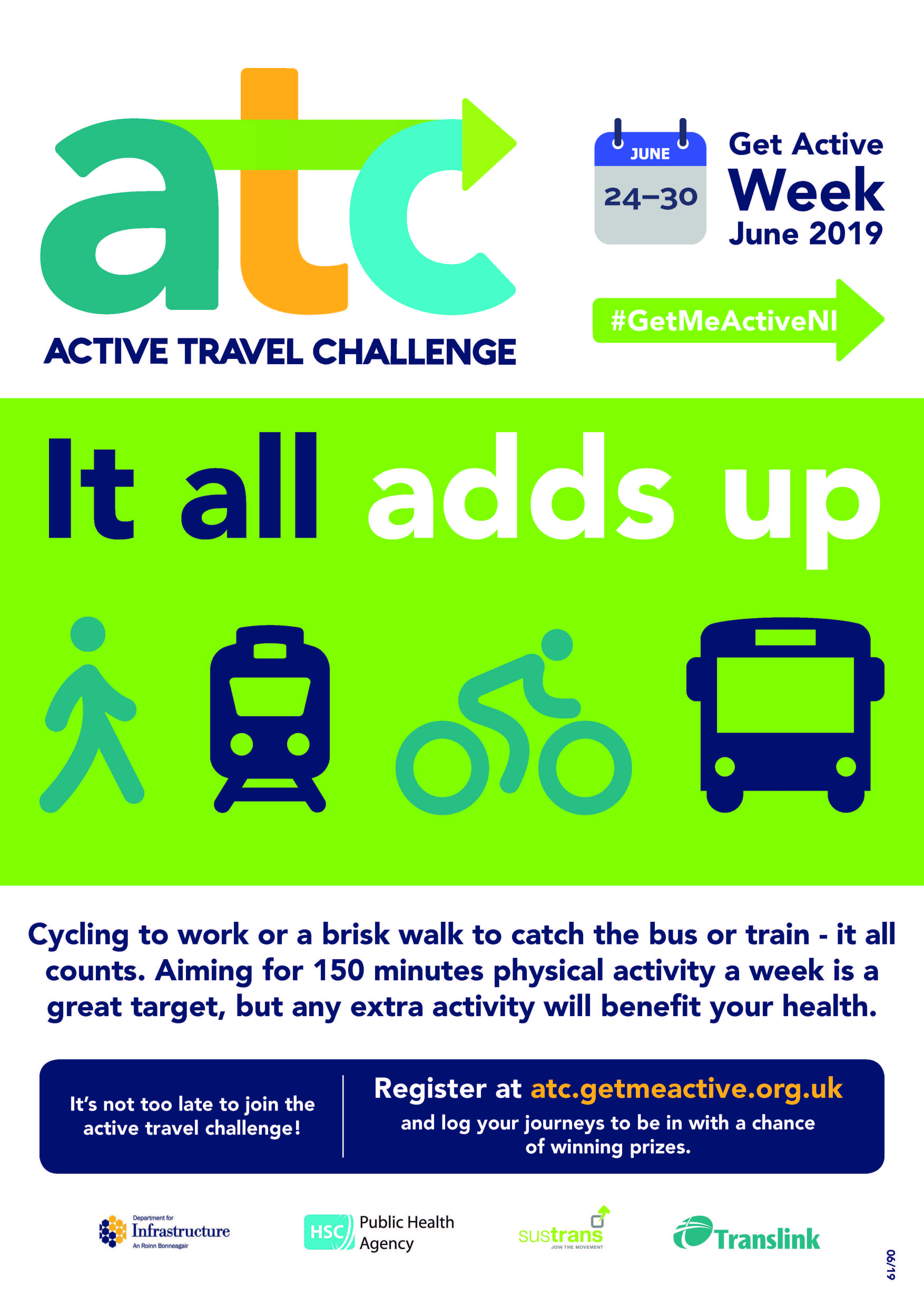 Image of Active Travel Challenge poster