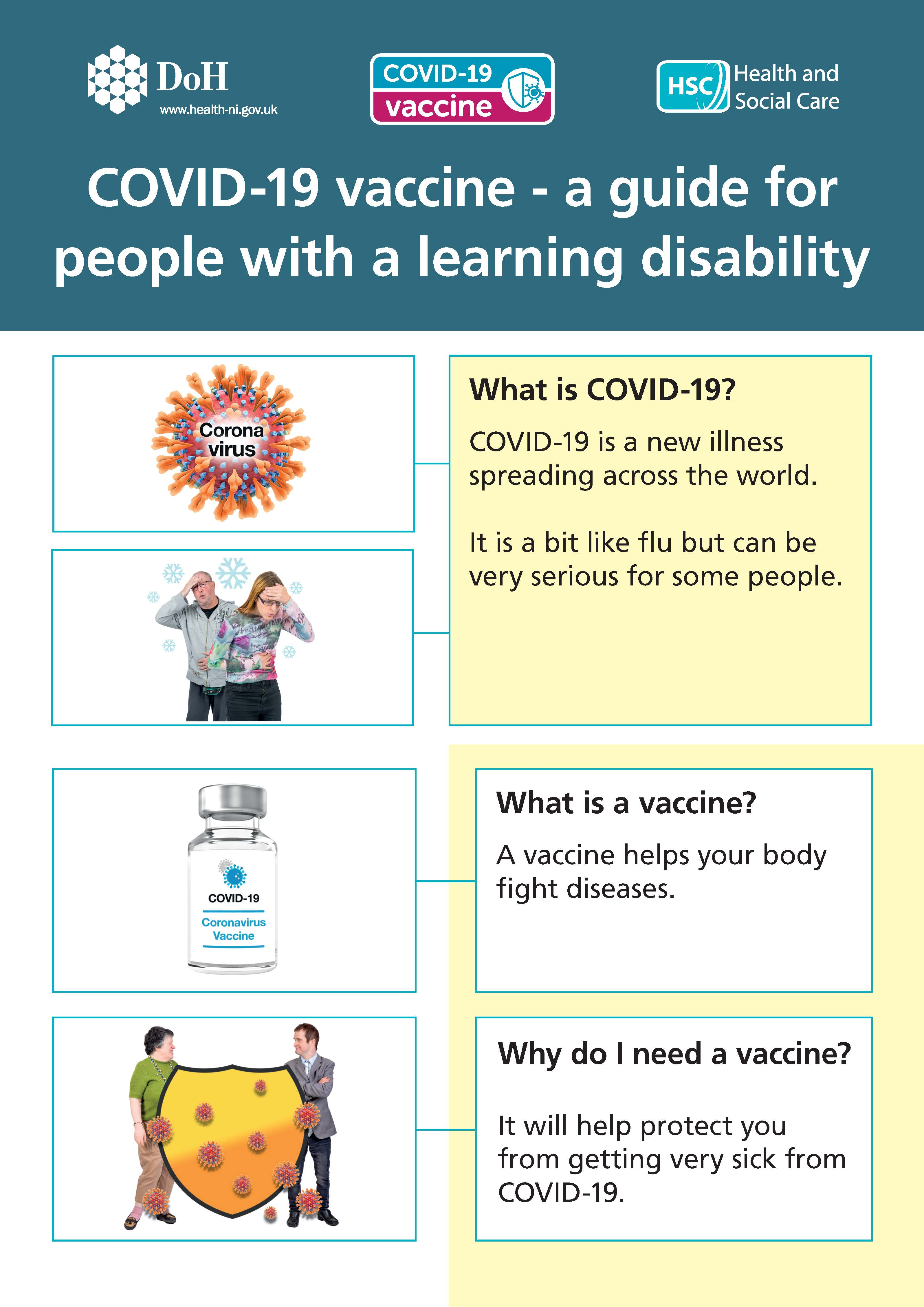 COVID-19 vaccine Easy read booklet image