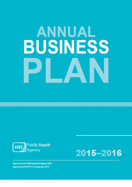 Public Health Agency Annual Business Plan 2015-2016