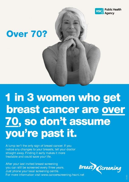 Over 70? (Breast screening)