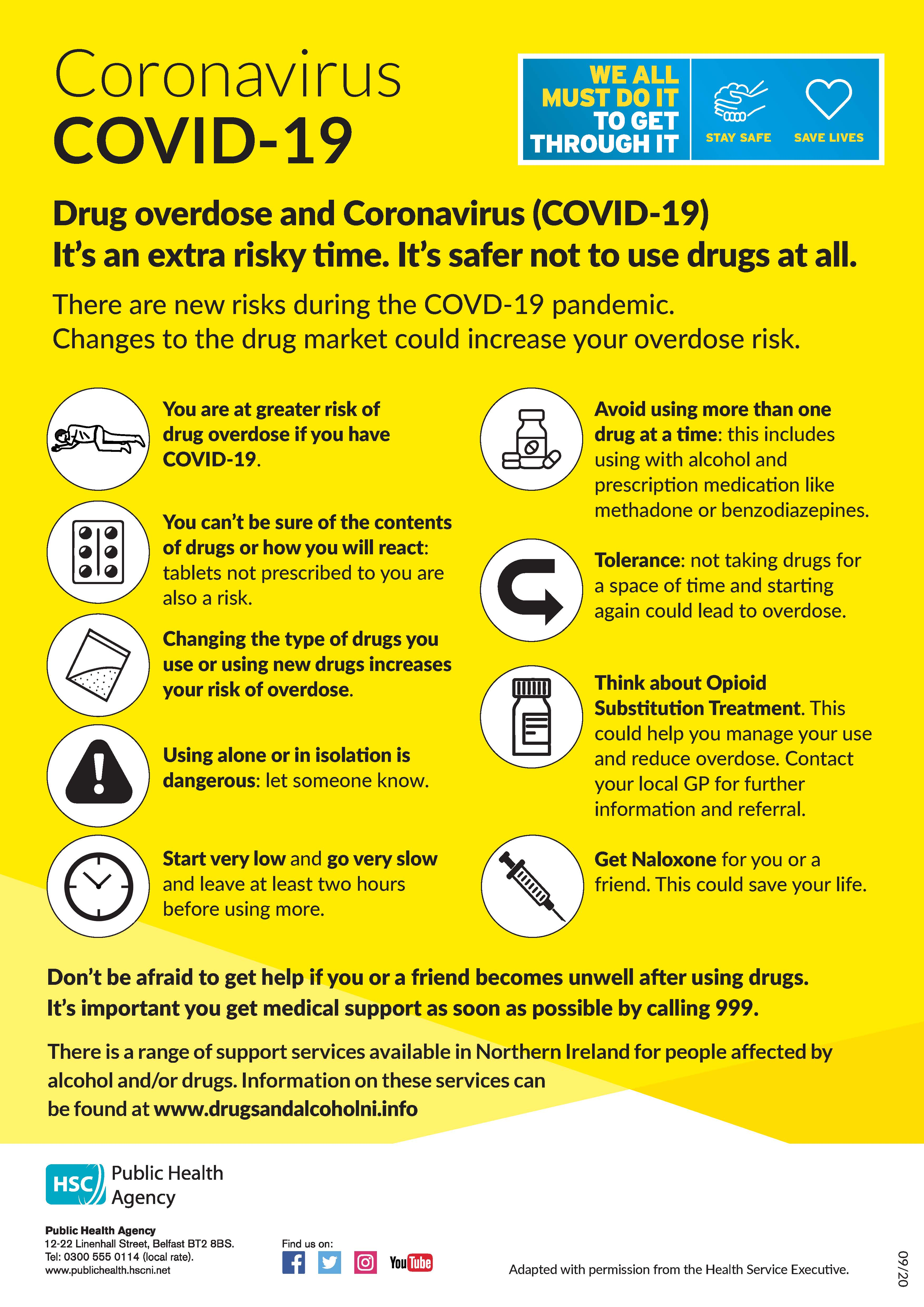 Image of drugs harm reduction poster