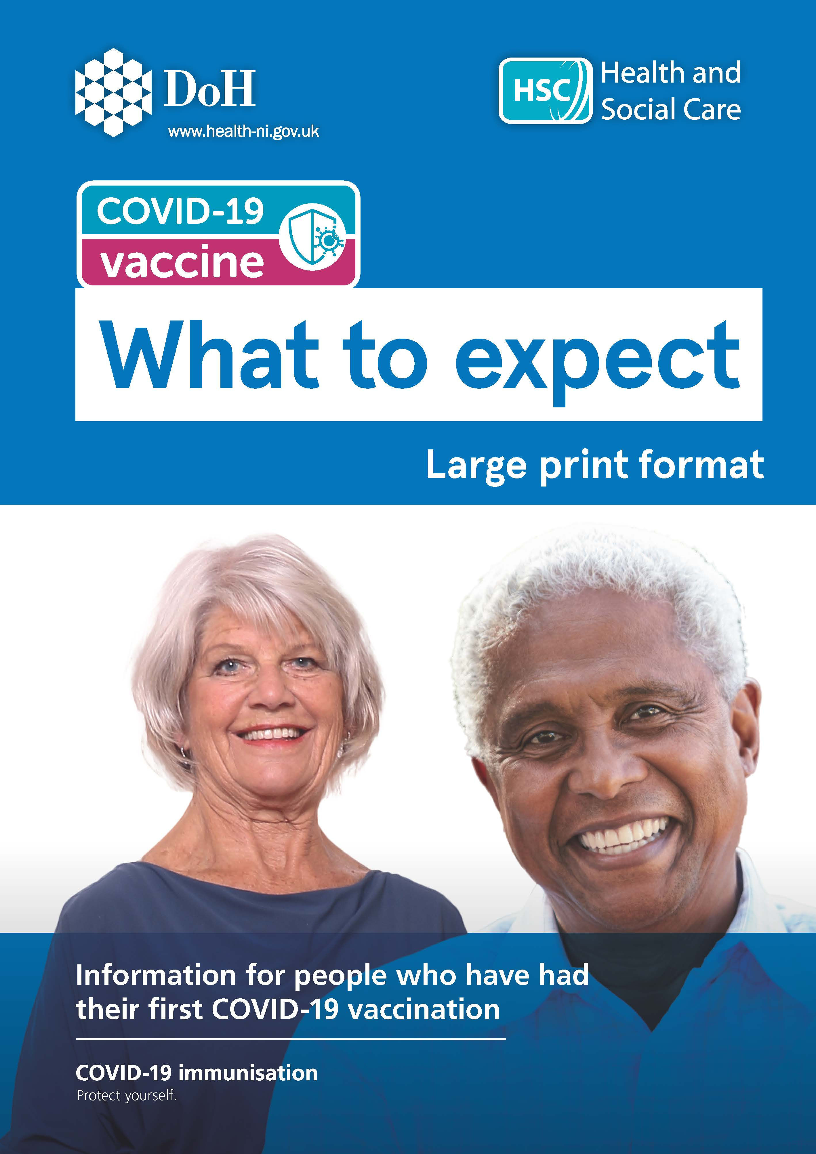 COVID-19 vaccine - What to expect leaflet image