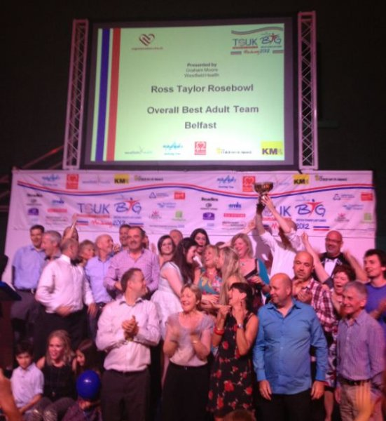 Belfast Transplant Games Team takes Rosebowl trophy for second successive year