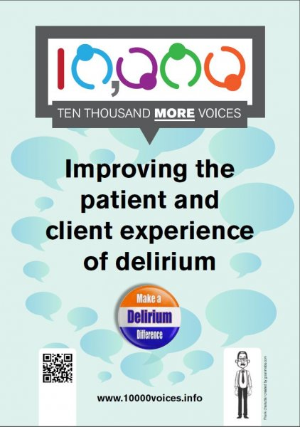 10,000 more voices: Improving the patient and client experience of delirium