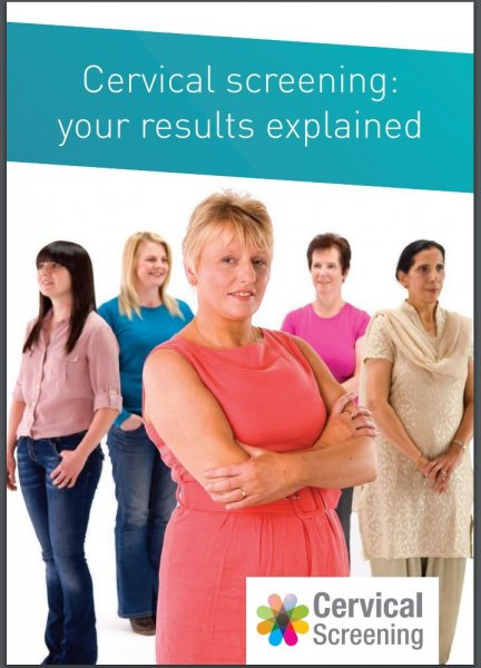 Cervical screening: your results explained (English and 11 translations)