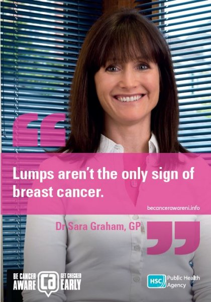 Lumps aren't the only sign of breast cancer
