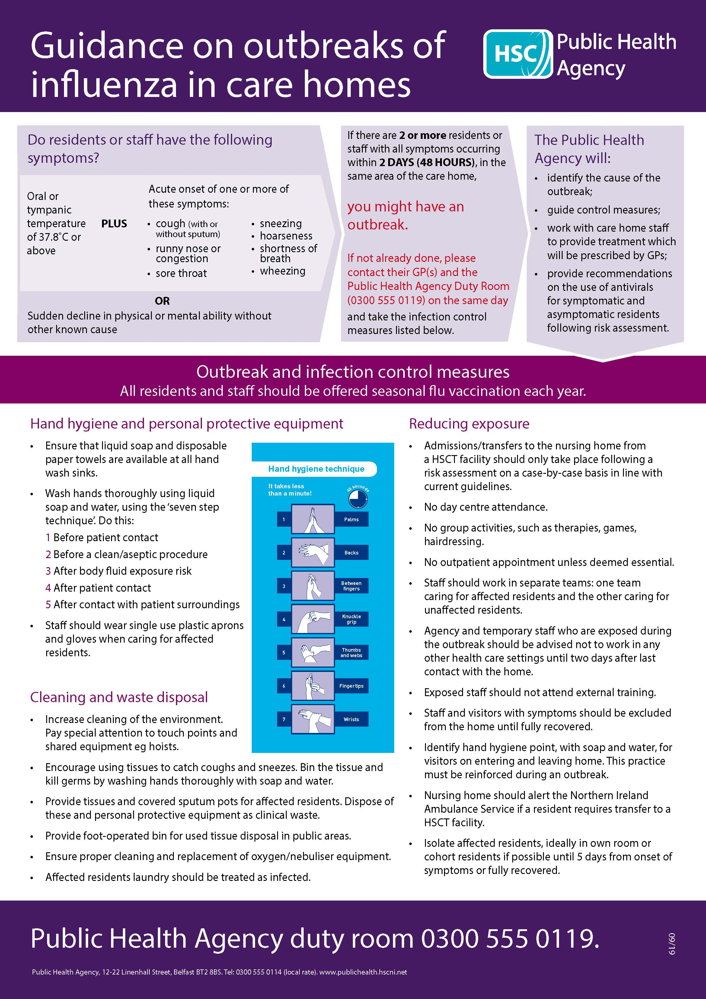 Care homes guidance poster