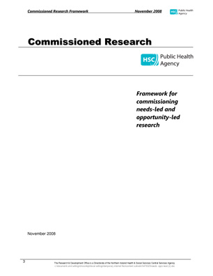HSC R&D Commissioned Research Framework