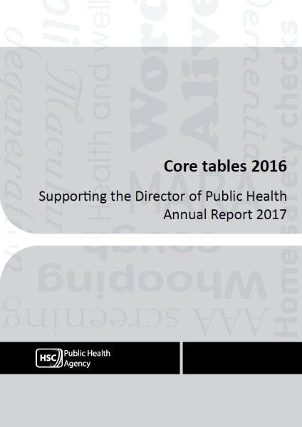 Core Tables 2016 - Supporting the Director of Public Health Annual Report 2017