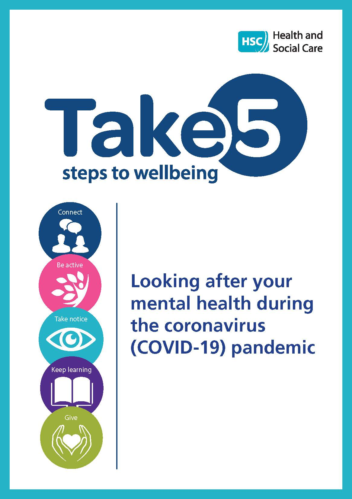 Cover of Take 5 coronavirus leaflet
