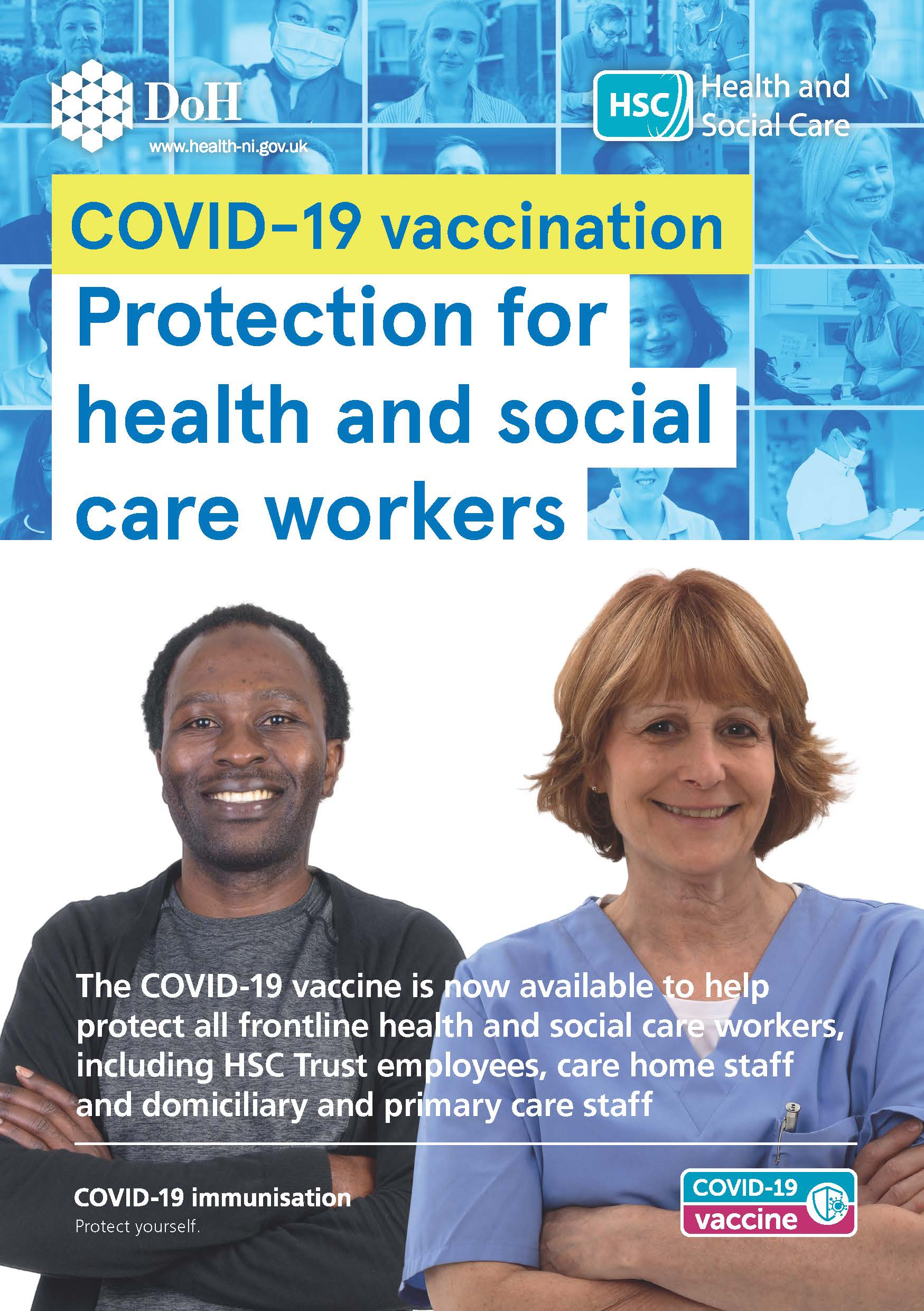 COVID-19 vaccination - health and social care workers leaflet image