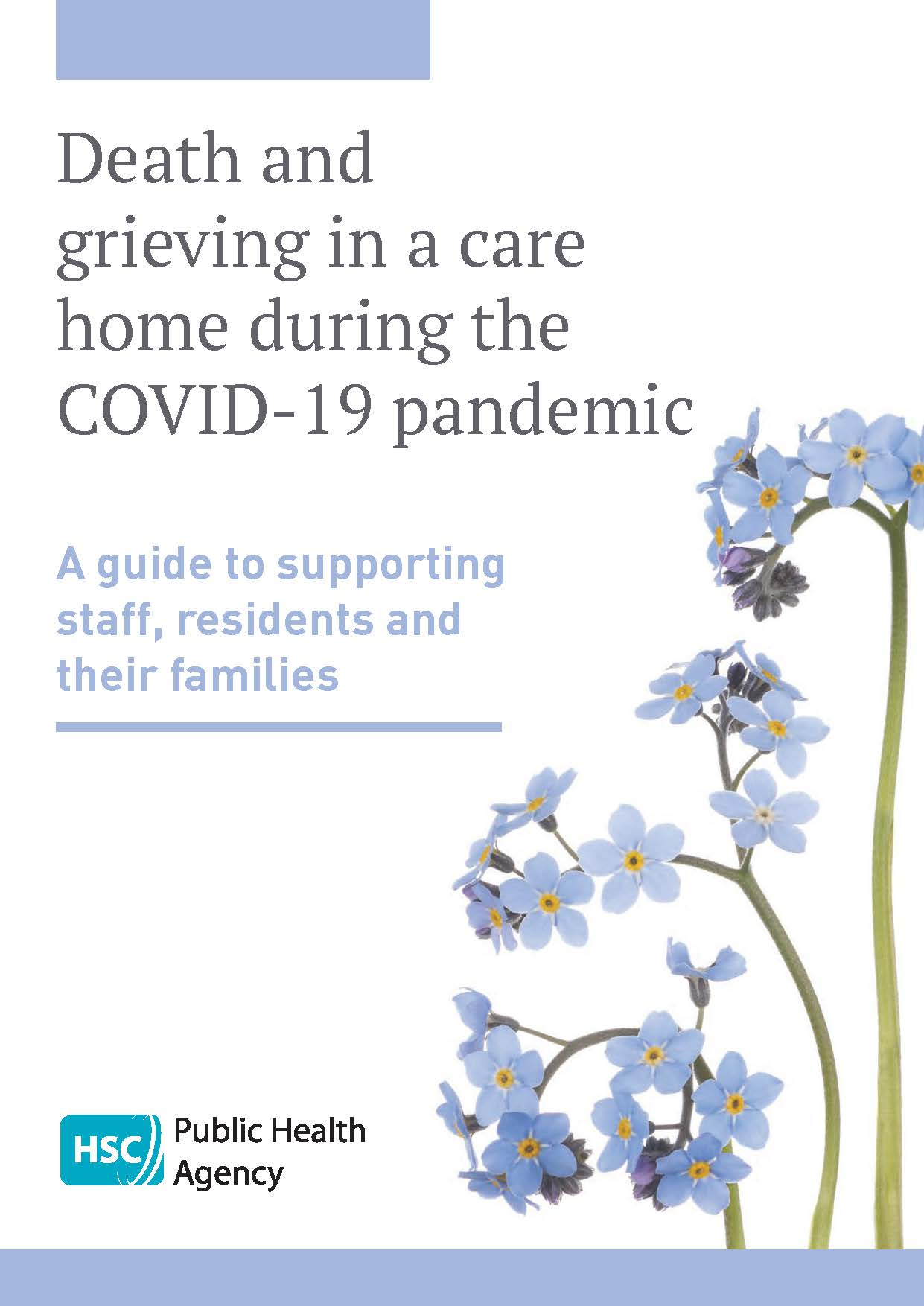 Cover of booklet on death and grieving in care homes