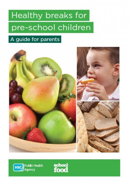 Healthy breaks for pre-school children leaflet (English and Irish translation)