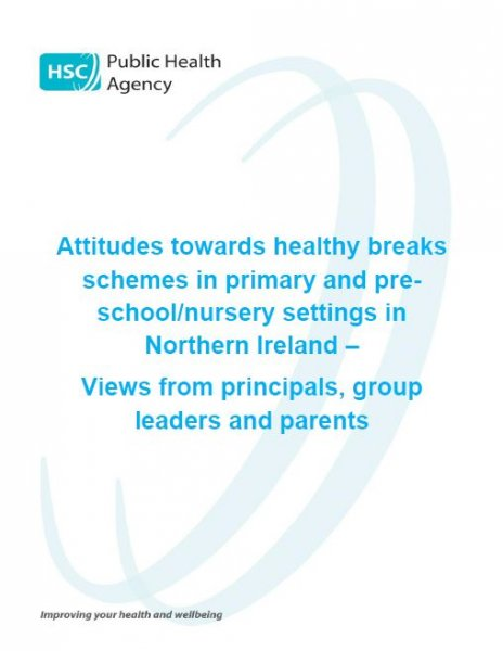 Attitudes towards healthy breaks schemes in primary and pre-school/nursery settings in Northern Ireland