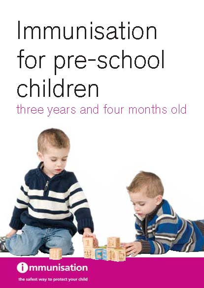 Immunisation for pre-school children three years and four months old (English and translations)