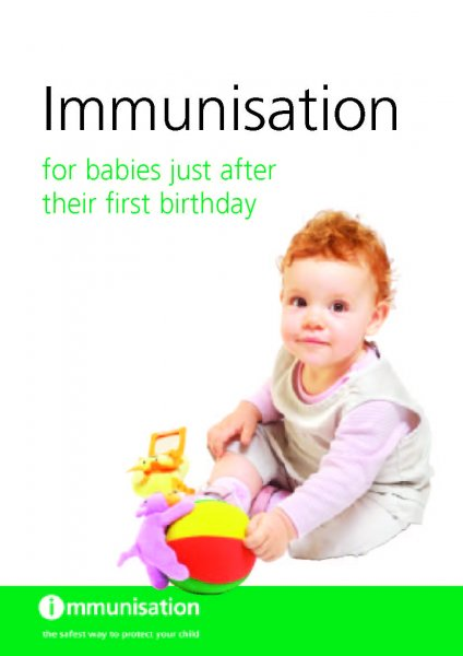 Immunisation for babies just after their first birthday (English and translations)