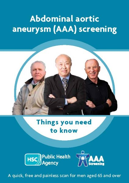 Abdominal Aortic Aneurysm (AAA) Screening Programme (4 leaflets with translations, flyer, poster)