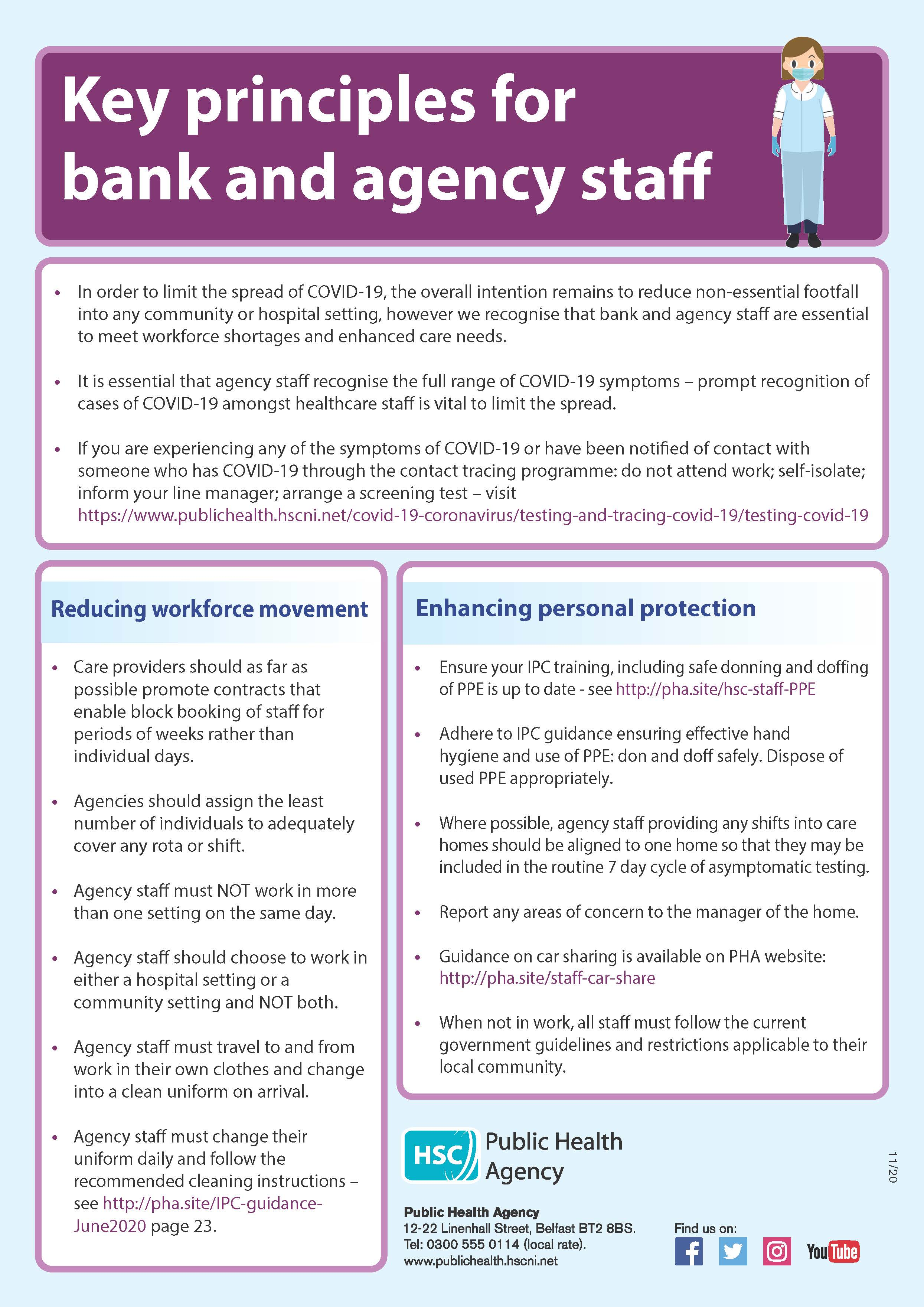image of factsheet key principles for bank and agency staff