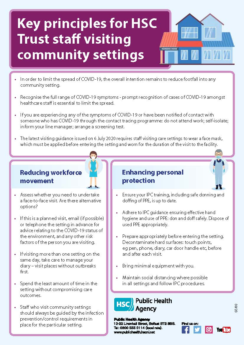 Image of Key principles for staff visiting community settings