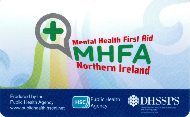 Mental Health First Aid Northern Ireland Wallet Card Hsc Public