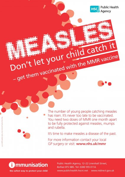 Measles: Don't let your child catch it (poster)