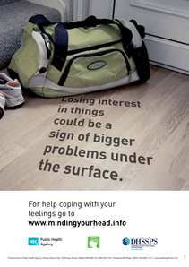 'Under the surface' mental health campaign posters