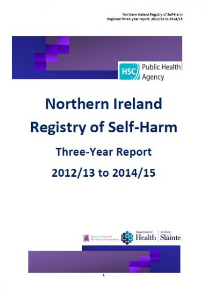 PHA publishes three year report into self-harm in Northern Ireland