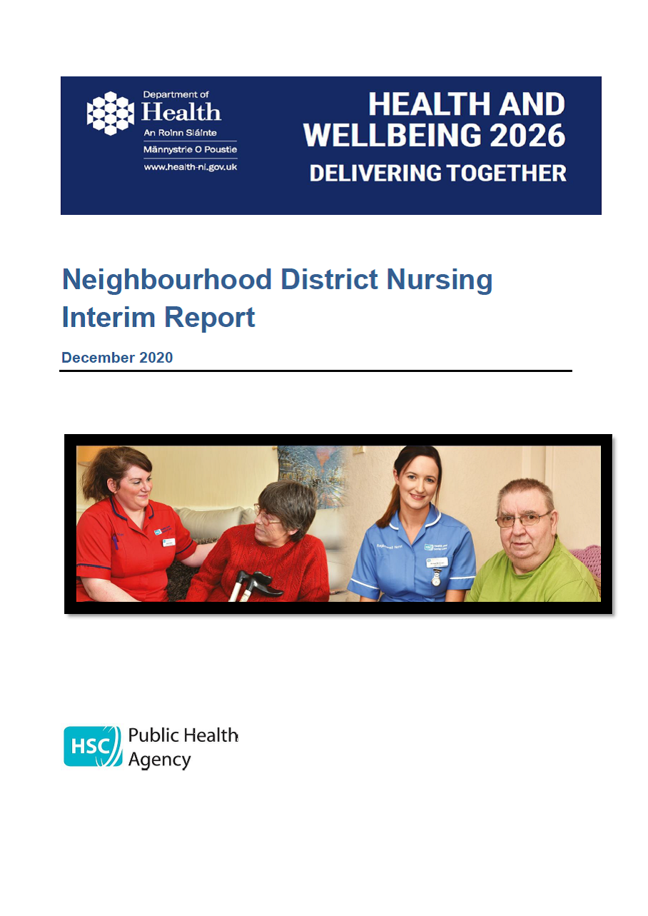 District nursing report cover