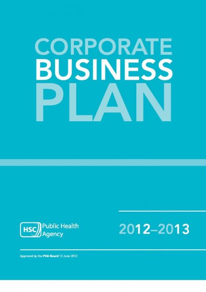Public Health Agency Business plan 2012-2013