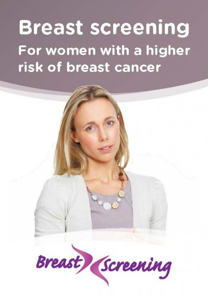 Breast screening: For women with a higher risk of breast cancer