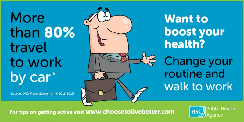 Boost your health with a walk to work
