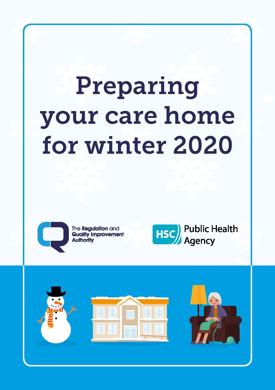 Cover of leaflet Preparing your care home for winter 2020