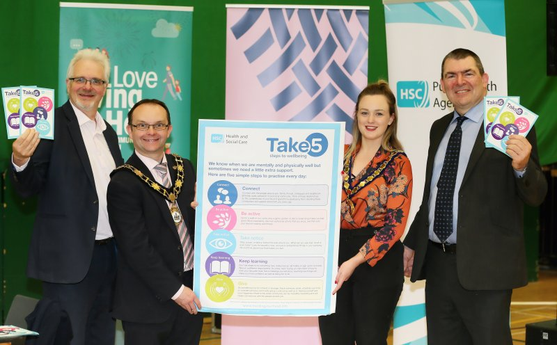 PHA promotes Take 5 steps to wellbeing in local council areas