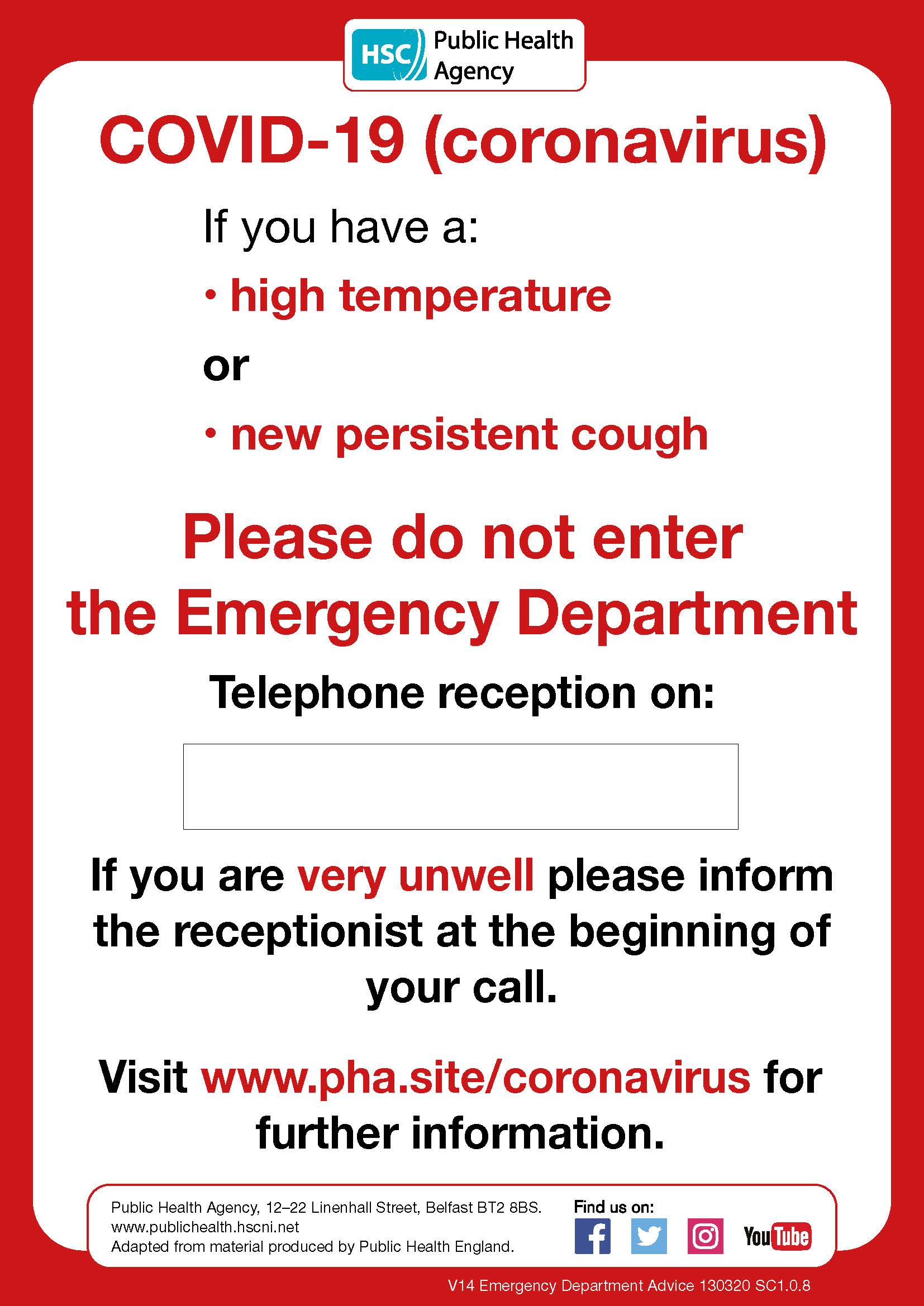Emergency Department poster