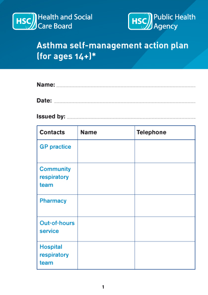 Asthma self-management action plan