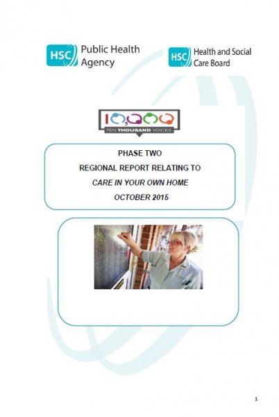 10,000 Voices Care in Your Own Home Regional Report