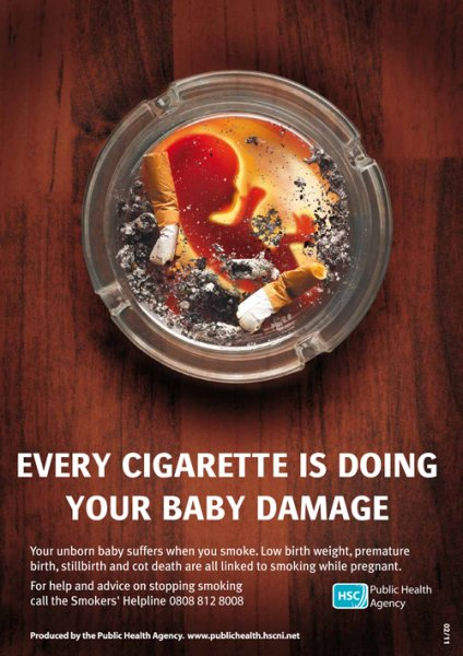 Every cigarette is doing your baby damage