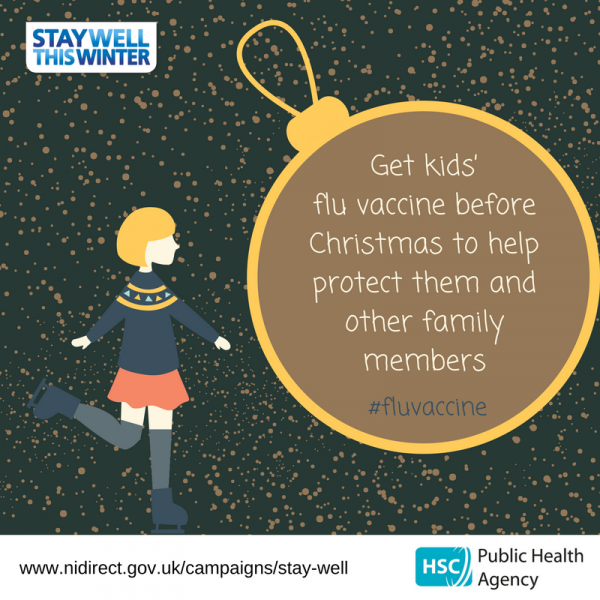 Get kids' flu vaccine before Christmas to help protect them and other family members
