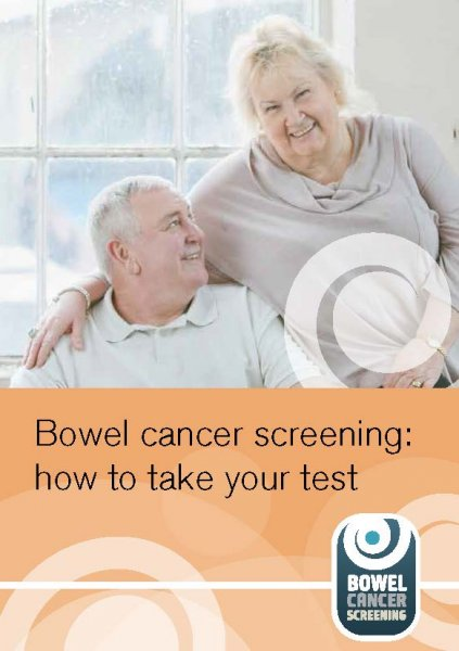 Bowel cancer screening: how to take your test (for people who are partially sighted)