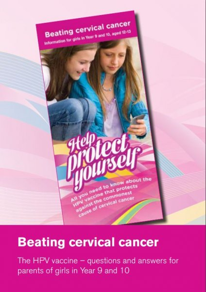 Beating cervical cancer. The HPV vaccine - questions and answers for parents of girls in Year 9 and 10 (English and translations)