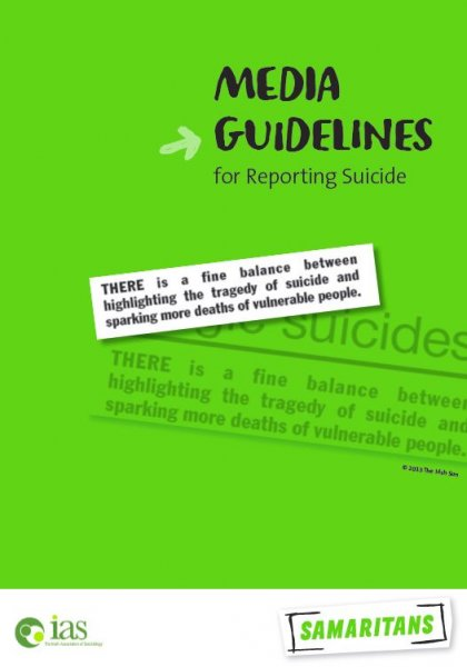 Media guidelines for reporting suicide