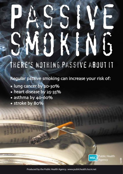 Passive smoking there's nothing passive about it