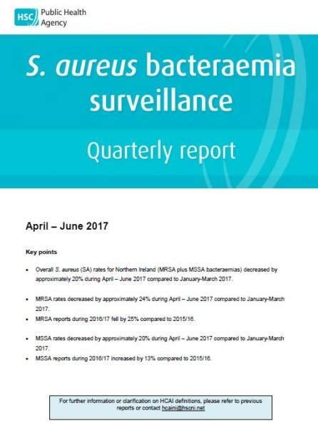 S.aureus surveillance report quarter April-June 2017