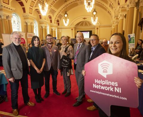 Presenters takng part in in NI Helplines Awareness Day