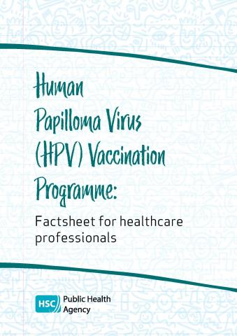 Cover of HPV factsheet for professionals