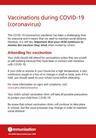 Vaccinations during covid