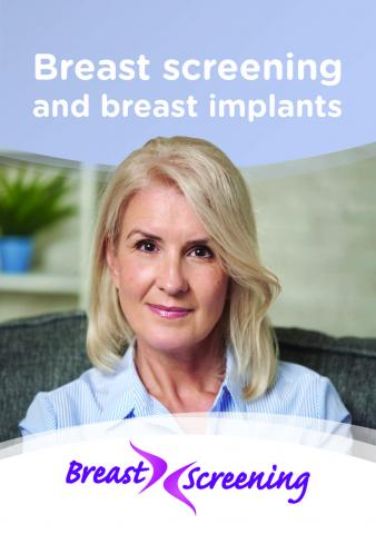 Cover of leaflet Breast screening and breast implants